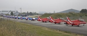 The Red Arrows and the French Patrouille De France on the ground in France