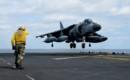 An Italian Navy AV 8B Harrier aircraft aboard USS Bataan.