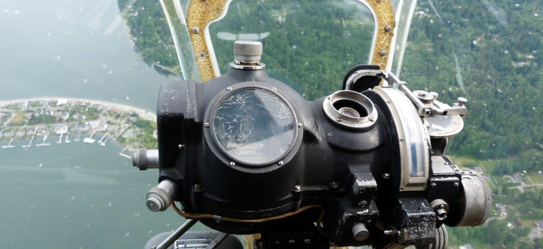 Norden Bombsight in B 17G Flying Fortress