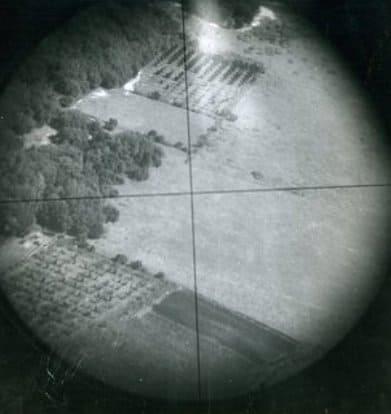 Norden bombsight crosshairs 1944 English countryside