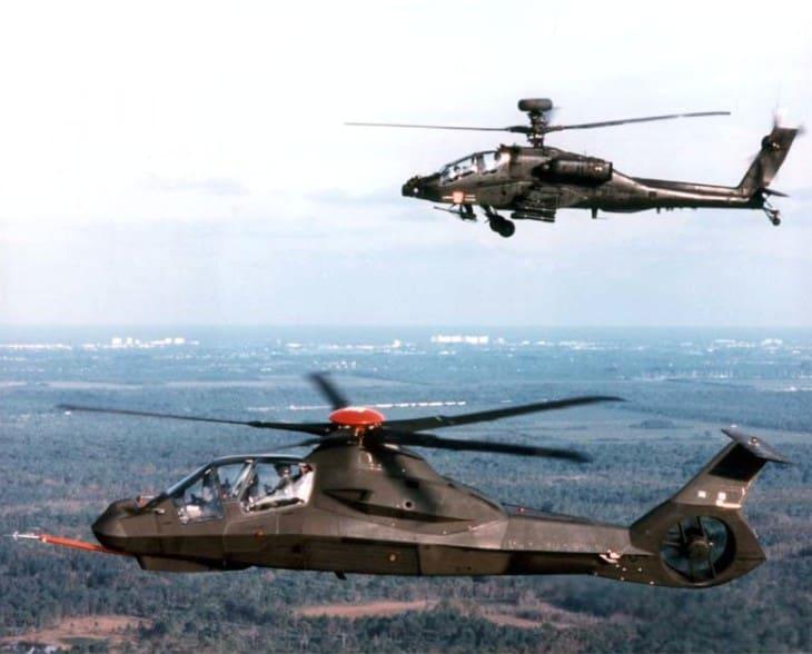 RAH 66 Comanche with AH 64 Apache