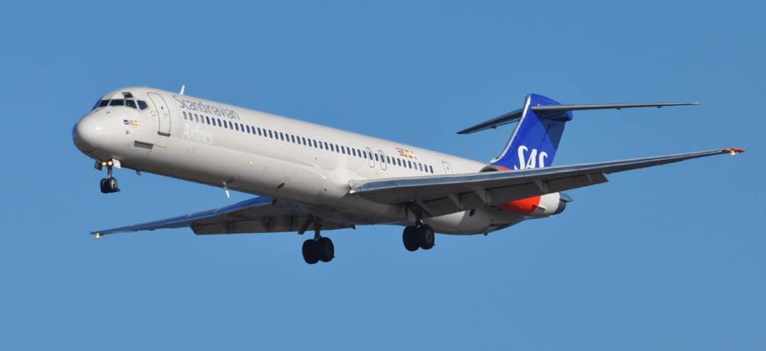 SAS Scandinavian Airlines McDonnell Douglas MD 81 SE DIR.