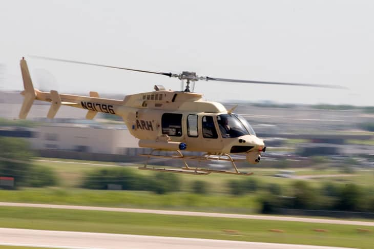 A Bell 407 being used for early development of the ARH 70