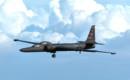 A U.S. Air Force U 2 Dragon Lady high altitude reconnaissance aircraft.