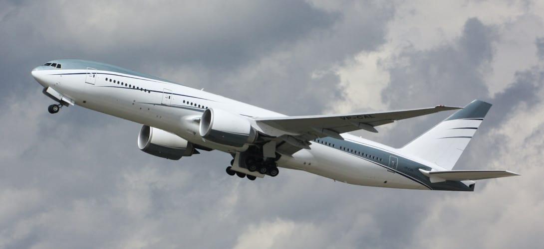 Aviation Link Company Boeing 777 2KQ LR VP CAL VIP Charter.
