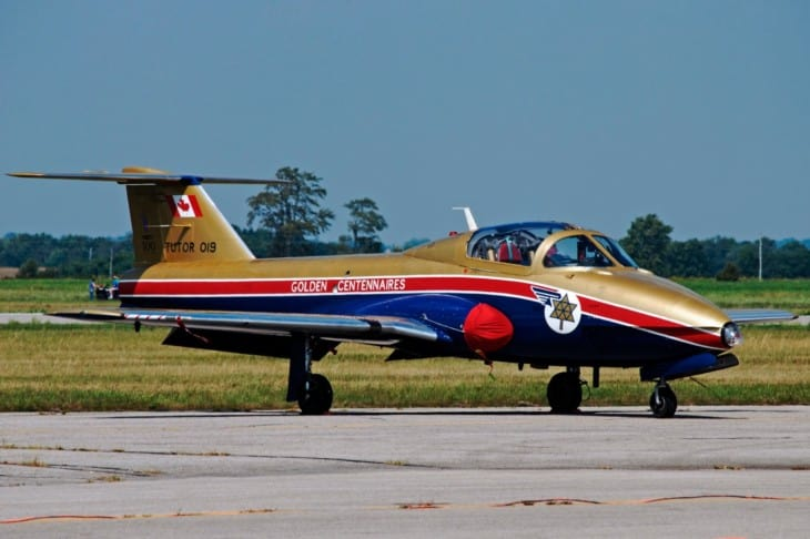 Canadair CT 114 Tutor in Golden Centennaires livery