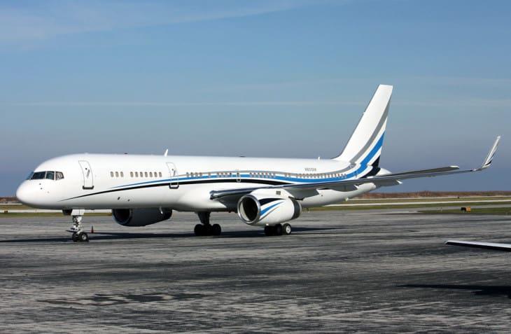 Dallas Mavericks basketball teams Boeing 767 256 N801DM