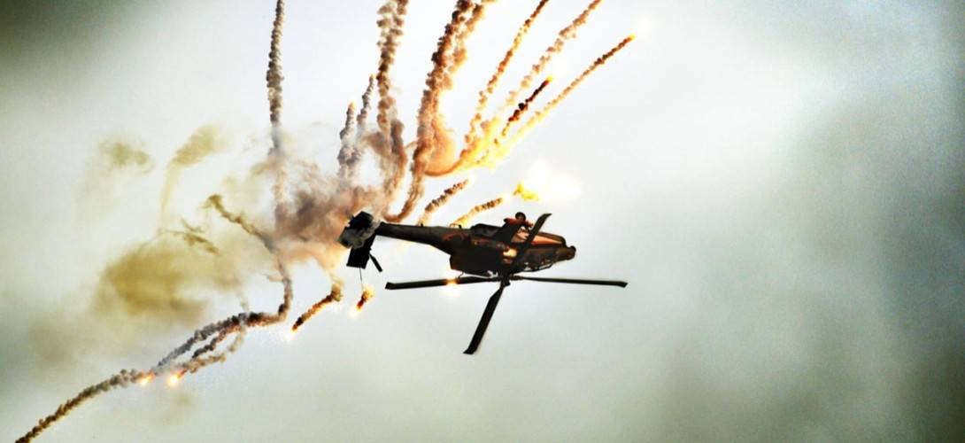 Fake helicopter crash at airshow