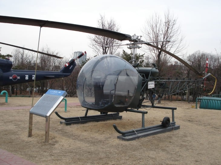 H 13 Sioux Helicopter on display at the War Memorial of Korea in Seoul.