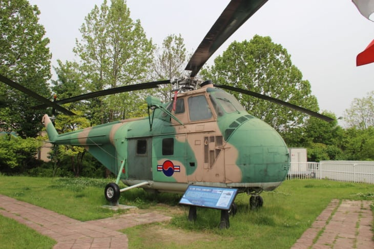 H 19B Chickasaw Utility Helicopter on display at the War Memorial of Korea in Seoul.