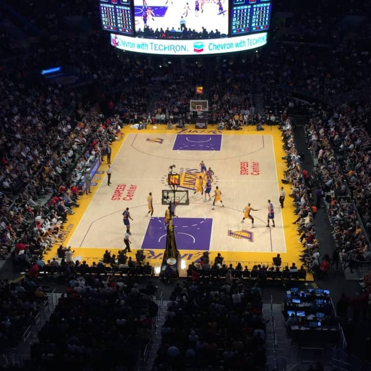Los Angeles Lakers on Staples Center