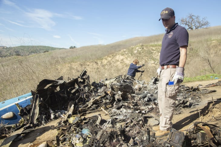 NTSBs investigation of the crash of a Sikorsky S76B helicopter near Calabasas California.