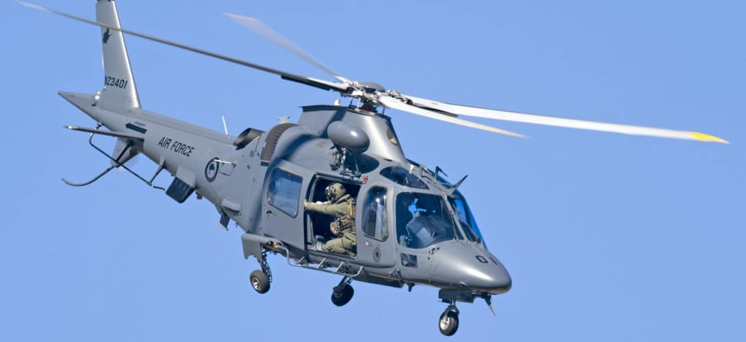 RNZAF A109 LUH helicopter