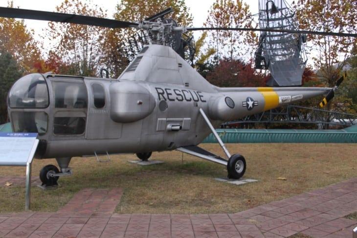 Sikorsky H 5H Dragonfly display at the War Memorial of Korea in Seoul.