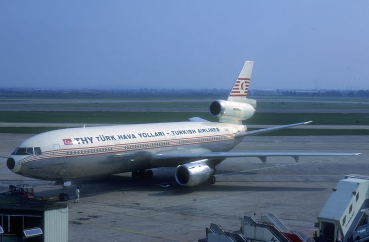 THY Turkish Airlines DC 10 involved in the accident in 1974.