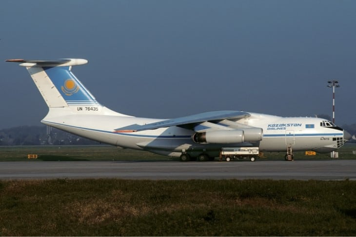 UN 76435 the Kazakhstan Airlines aircraft involved in the accident.