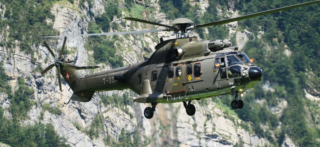 Eurocopter AS 532UL Cougar Swiss Air Force.