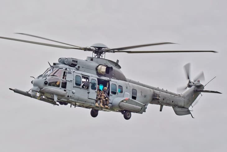 French Air Force EC725 on lift off