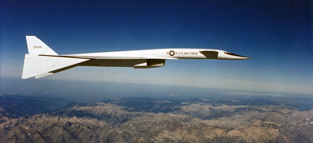 North American XB 70A Valkyrie in flight