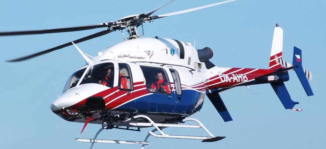 Rescue helicopter Bell 427.