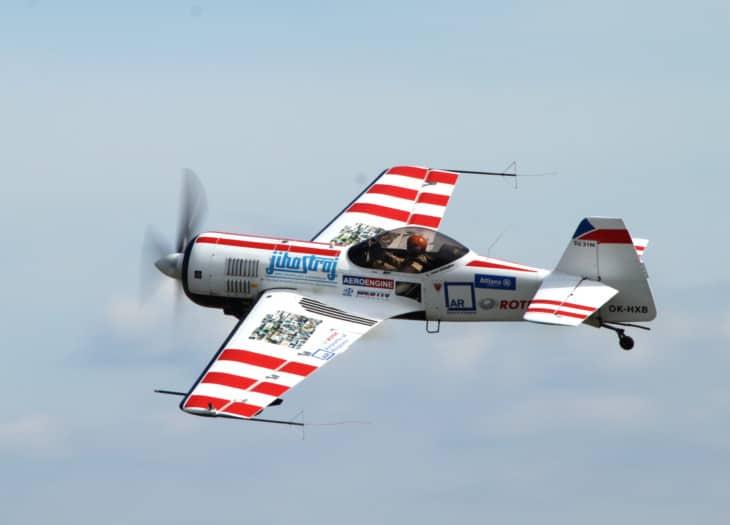 Czech acrobatic plane Sukhoi Su 31
