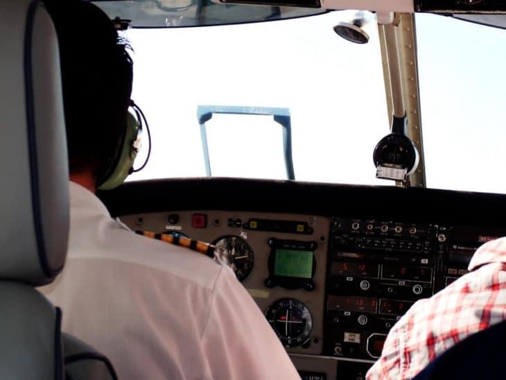 Pilots in simulator training