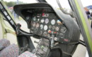 The cockpit of the SW 4 Puszczyk helicopter