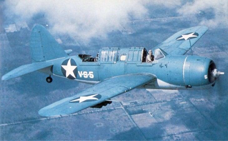 Brewster SB2A 4 Buccaneer in flight 1942