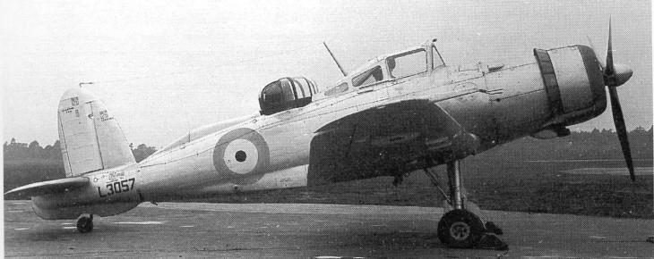 Prototype Blackburn Roc in 1939