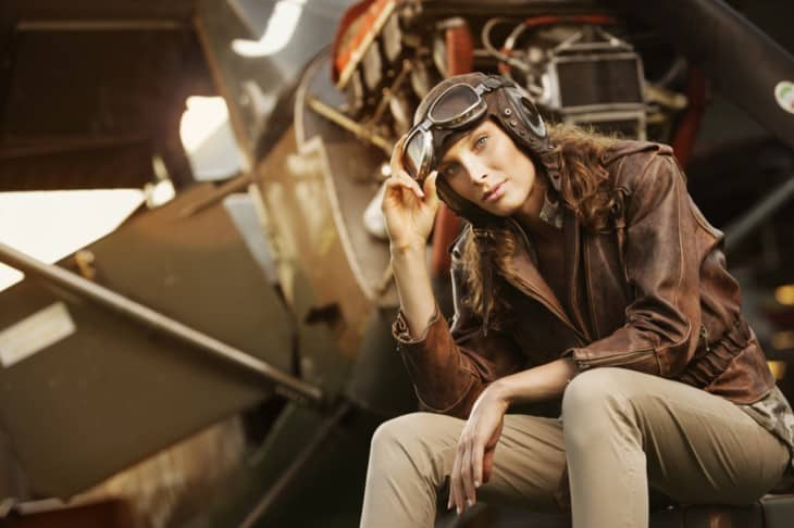 woman aviator vintage
