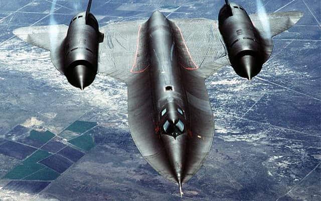 Lockheed SR-71 Blackbird top view