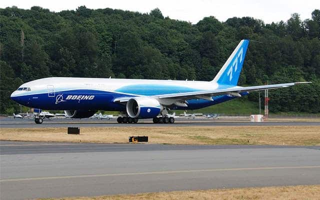 Boeing 777 Freighter taxi