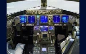 Boeing 777 Freighter cockpit flight deck