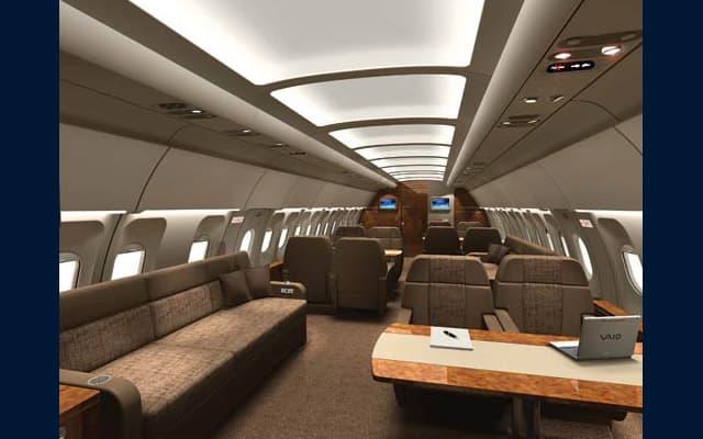 Airbus A318 Elite ACJ interior