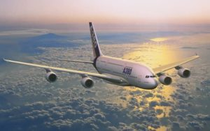 Airbus A380 Private Jet in the air