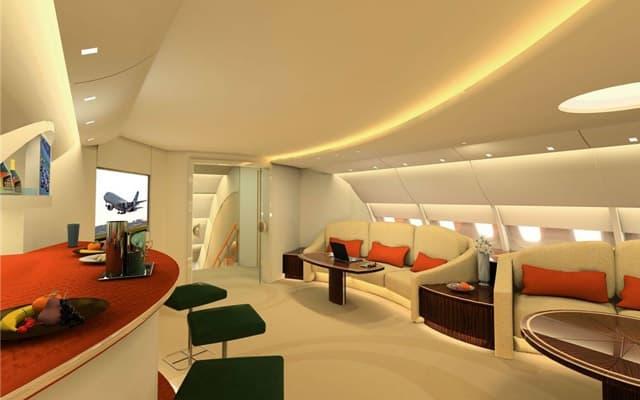 Airbus A380 Private Jet luxury interior