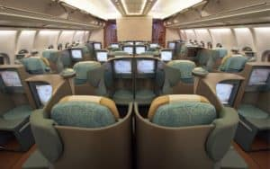 Airbus Industrie A340 600 HGW interior