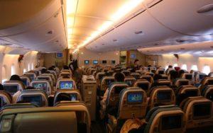 Airbus A380 interior cabin