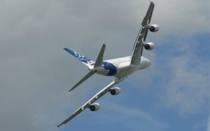 Airbus A380-800 Barrel Roll