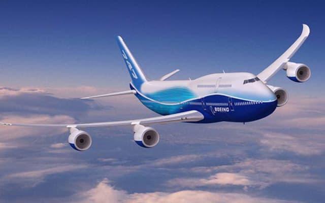 Boeing 747-8 flight