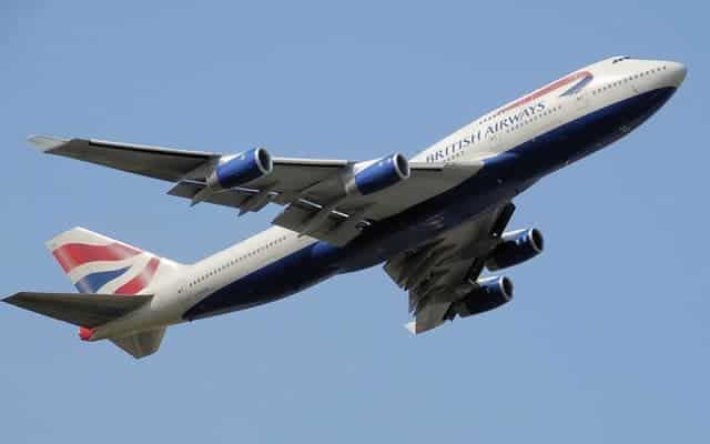 Boeing 747 400 flight