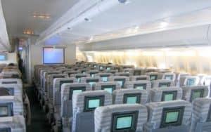 Boeing 747 400 interior seating