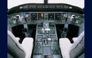 Bombardier Global Express XRS cockpit flight deck