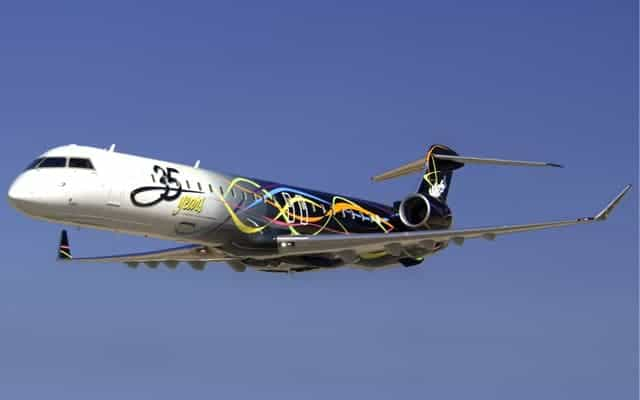 Bombardier CRJ 900 in the air