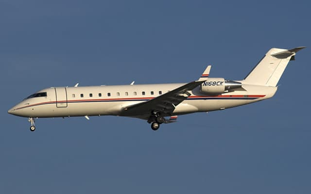 Bombardier Challenger 850 landing