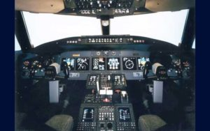 Bombardier Challenger 850 cockpit flight deck