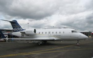 Bombardier Challenger 605 parked