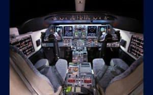 Bombardier Learjet 40XR cockpit flight deck