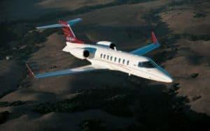 Bombardier Learjet 45 XR high in the sky