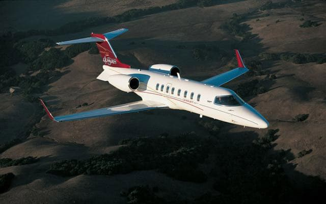 Bombardier Learjet 45 XR high in the sky